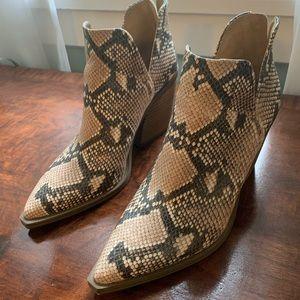 Vince Camino Snakeskin Booties